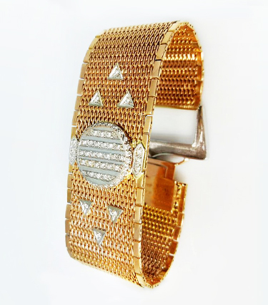 FIRMADO VAN CLEEF & ARPELS - Oro Rosa 18K - Brillantes